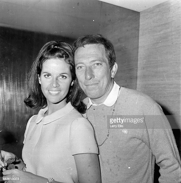 Singer Andy Williams with his wife Claudine Longet at a press conference 16th May 1968