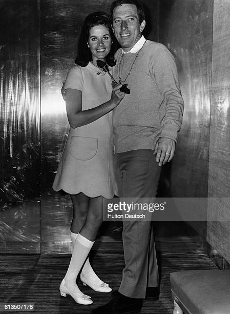 Singer Andy Williams with his wife ingenue singer Claudine Longet