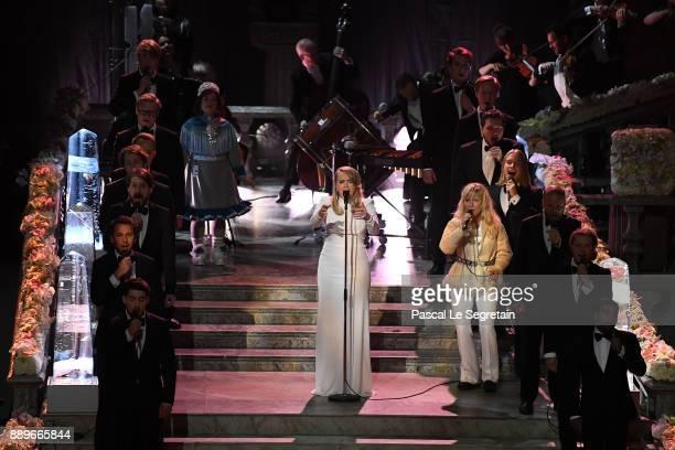 Singer Ane Brun performs during the Nobel Prize Banquet 2017 at City Hall on December 10 2017 in Stockholm Sweden