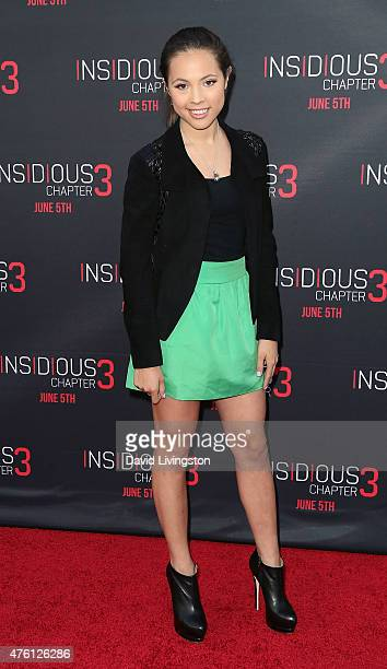 Singer Aneliz Aguilar attends the premiere of Focus Features' 'Insidious Chapter 3' at the TCL Chinese Theatre on June 4 2015 in Hollywood California