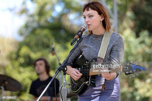 Singer Angel Olsen performs onstage at Golden Gate Park on October 4 2015 in San Francisco California