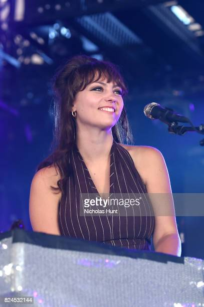 Singer Angel Olsen performs onstage at The Pavilion during the 2017 Panorama Music Festival Day 3 at Randall's Island on July 30 2017 in New York City