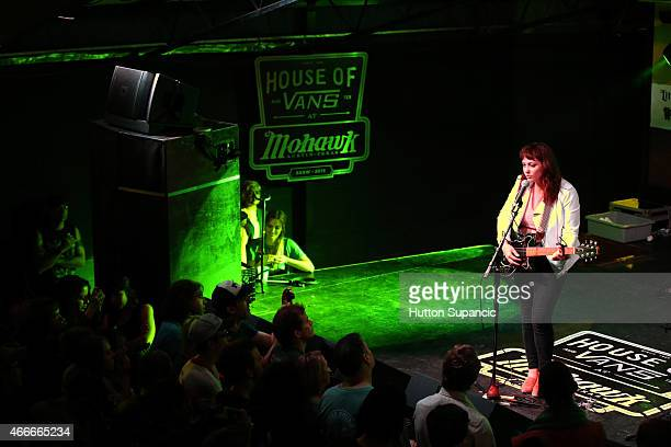 Singer Angel Olsen performs onstage during the 'Transmission Events' showcase during the 2015 SXSW Music Film Interactive Festival at Mohawk Outdoor...
