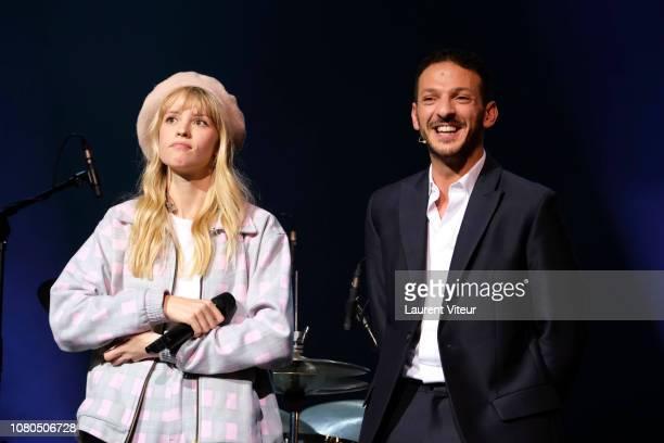 Singer Angele and Humorist Vincent Dedienne attend 'Grand Prix de la Sacem 2018' at Salle Pleyel on December 10 2018 in Paris France