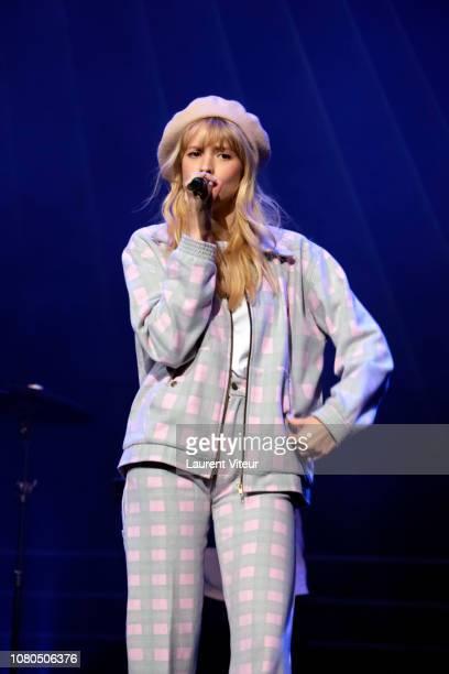 Singer Angele attends 'Grand Prix de la Sacem 2018' at Salle Pleyel on December 10 2018 in Paris France