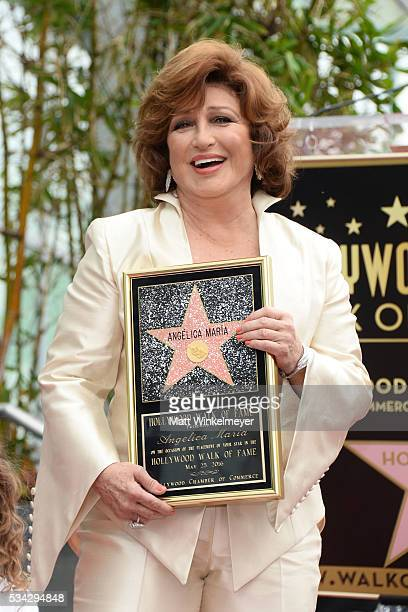 Singer Angelica Maria attends a ceremony honoring her with a Star on The Hollywood Walk of Fame on May 25 2016 in Hollywood California