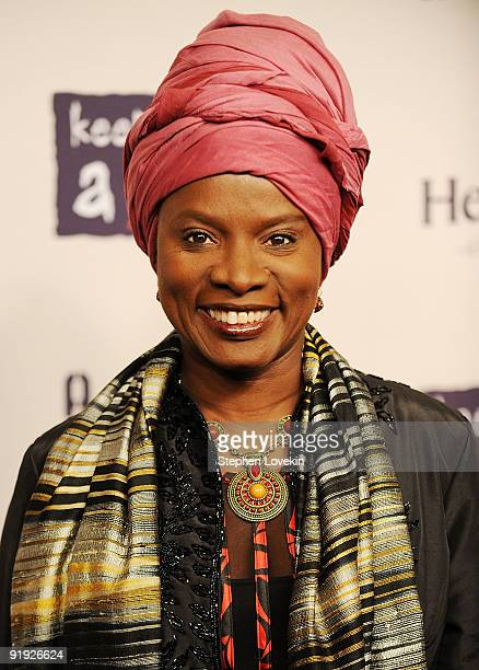 Singer Angelique Kidjo attends Keep A Child Alive�s 6th Annual Black Ball at Hammerstein Ballroom on October 15 2009 in New York City