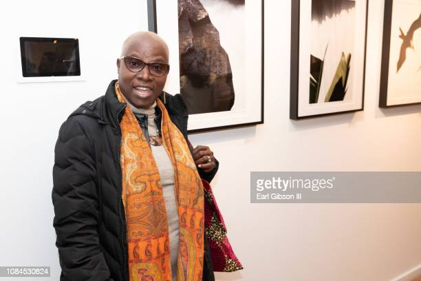 Singer Angelique Kidjo attends Ralph Gibson's 80th Birthday at Leica Gallery Los Angeles on January 17 2019 in Los Angeles California