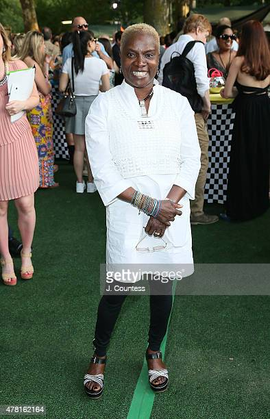 Singer Angelique Kidjo attends the City Parks Foundation Thirty Years Of Summer Stage Celebration at Rumsey Playfield Central Park on June 22 2015 in...