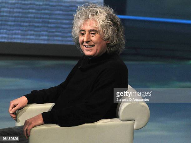 Singer Angelo Branduardi attends 'Che Tempo Che Fa' Italian Tv Show held at Rai Studios on February 7 2010 in Milan Italy