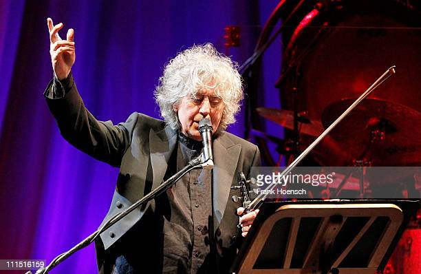Singer Angelo Branduardi performs live during a concert at the Friedrichstadtpalast on April 4 2011 in Berlin Germany