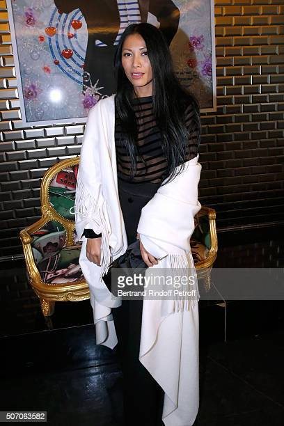 Singer Anggun attends the Jean Paul Gaultier Spring Summer 2016 show as part of Paris Fashion Week on January 27 2016 in Paris France