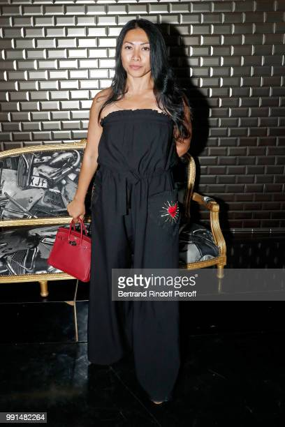 Singer Anggun attends the JeanPaul Gaultier Haute Couture Fall Winter 2018/2019 show as part of Paris Fashion Week on July 4 2018 in Paris France