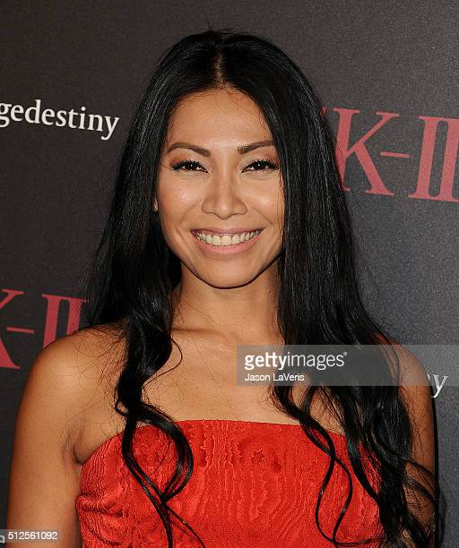 Singer Anggun attends the SKII #ChangeDestiny forum at Andaz Hotel on February 26 2016 in Los Angeles California