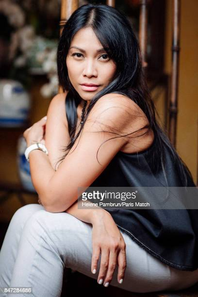 Singer Anggun is photographed for Paris Match on July 6 2017 in Paris France