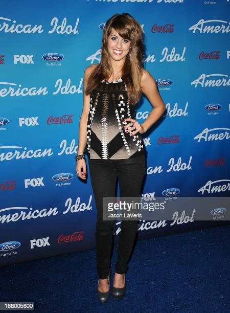 Singer Angie Miller attends the American Idol finalists event at The Grove on March 7 2013 in Los Angeles California