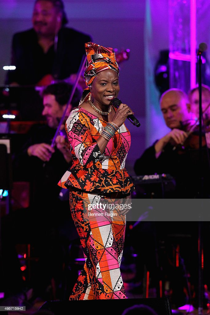 Singer Angélique Kidjo performs onstage during Change Begins Within: A David Lynch Foundation Benefit Concert on November 4, 2015 in New York City.