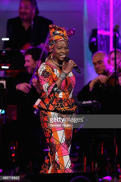 Singer Angélique Kidjo performs onstage during Change Begins Within A David Lynch Foundation Benefit Concert on November 4 2015 in New York City