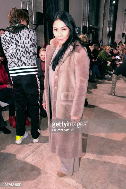 Singer Angun attends the Georges Chakra Haute Couture Spring Summer 2019 show as part of Paris Fashion Week on January 21 2019 in Paris France