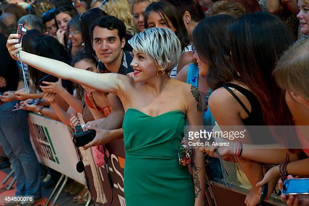 Singer Angy attend the 6th FesTVal Television Festival 2014 closing ceremony at the Principal Theater on September 6 2014 in VitoriaGasteiz Spain