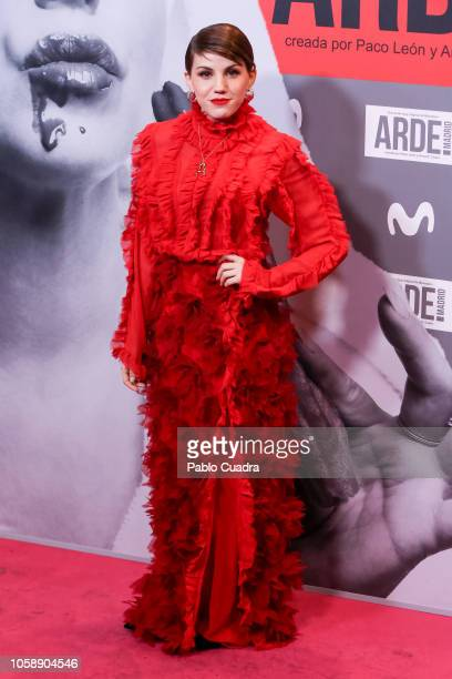 Singer Angy Fernandez attends the 'Arde Madrid' premiere at Capito Cinema on November 7 2018 in Madrid Spain