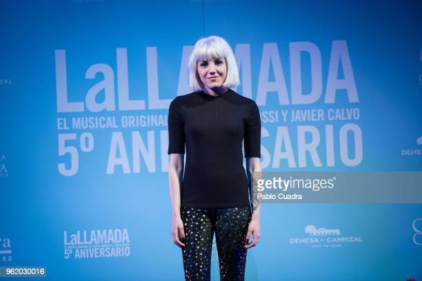 Singer Angy Fernandez attends the 'La Llamada' photocall at Lara Theater on May 24 2018 in Madrid Spain