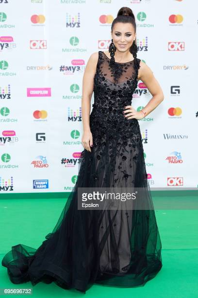 Singer Ani Lorak aheads of the 2017 MuzTV Music Awards ceremony at Olimpiyskiy Stadium on June 9 2017 in Moscow Russia