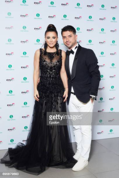 Singer Ani Lorak attends the 2017 MuzTV Music Awards ceremony at Olimpiyskiy Stadium on June 9 2017 in Moscow Russia