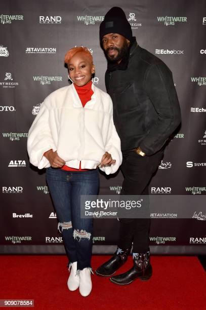 Singer Anika Noni Rose and actor Colman Domingo attend the Whitewater Films Reception At The RAND Luxury Escape - 2018 Park City at The St. Regis...