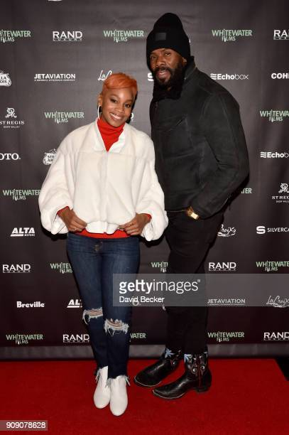 Singer Anika Noni Rose and actor Colman Domingo attend the Whitewater Films Reception At The RAND Luxury Escape 2018 Park City at The St Regis Deer...