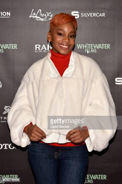 Singer Anika Noni Rose attends the Whitewater Films Reception At The RAND Luxury Escape - 2018 Park City at The St. Regis Deer Valley during the 2018...