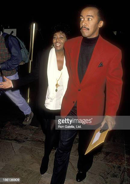 Singer Anita Baker and husband Walter Bridgeforth attend The Friars Club Roasts Whoopi Goldberg on October 8 1993 at New York Hilton Hotel in New...
