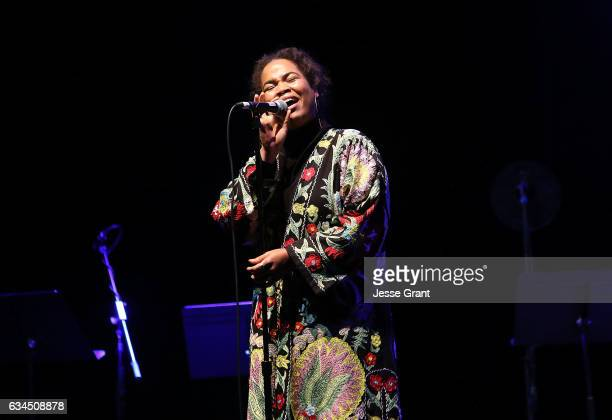 Singer Anita Bias of the band King performs during the annual GRAMMY In The Schools Live – A Celebration of Music Education presented by Ford Motor...