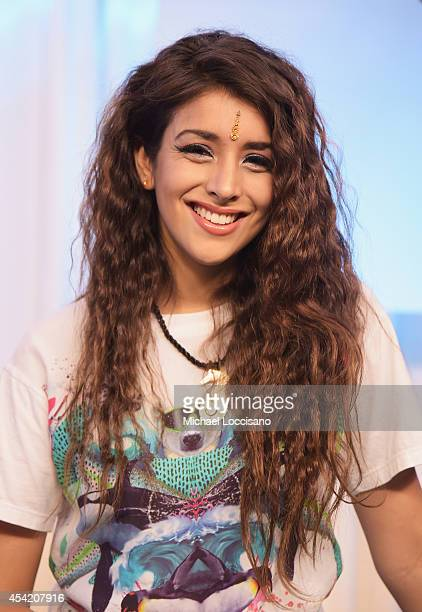 Singer Anjali visits Music Choice on August 26 2014 in New York City