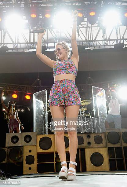 Singer Ann Marie of Rudimental performs onstage during day 3 of the 2014 Coachella Valley Music Arts Festival at the Empire Polo Club on April 13...
