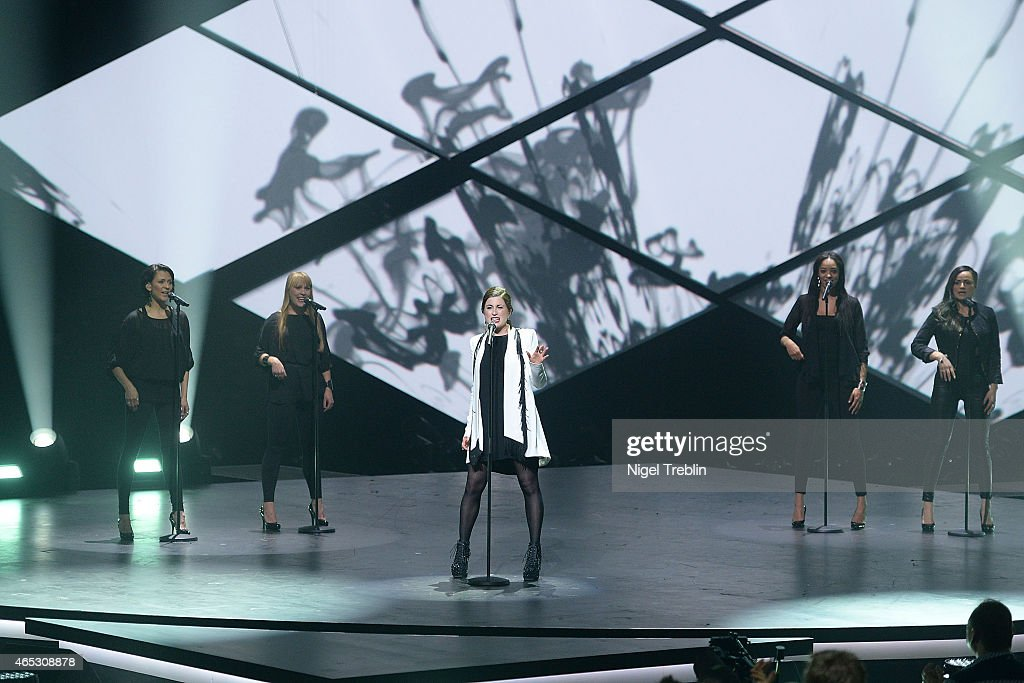 Singer Ann Sophie performs during the finals of the TV show 'Our Star For Austria' (German title: Unser Song fuer Oesterreich) on March 5, 2015 in Hanover, Germany. 'Our Star For Austria' is a national contest to vote for the German contestant for the 60th Eurovision Song Contest taking place in Vienna, Austria in May 2015.