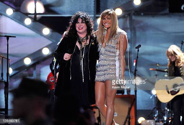 Singer Ann Wilson and musician Grace Potter perform during 'VH1 Divas Salute the Troops' presented by the USO at the MCAS Miramar on December 3 2010...