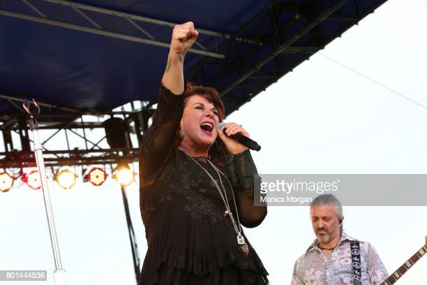 Singer Ann Wilson during the Detroit River Days 2017 at Detroit Riverfront on June 23 2017 in Detroit Michigan