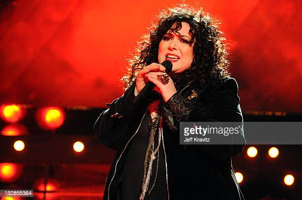 Singer Ann Wilson of Heart performs onstage during 'VH1 Divas Salute the Troops' presented by the USO at the MCAS Miramar on December 3 2010 in...