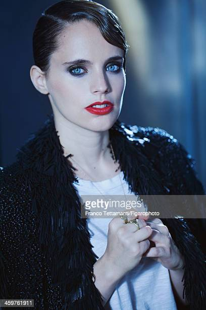 107955002 Singer Anna Calvi is photographed for Madame Figaro on September 26 2013 in Paris France Coat tshirt necklace rings personal PUBLISHED...