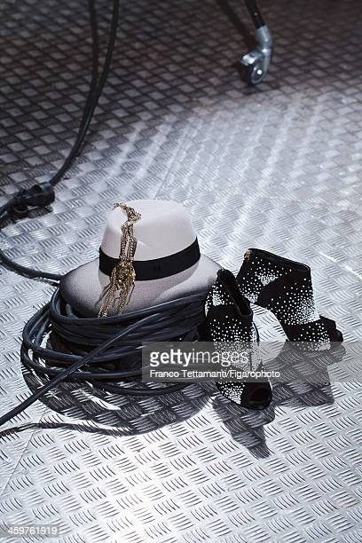 107955005 Singer Anna Calvi's style inspirations are photographed for Madame Figaro on September 26 2013 in Paris France Hat boots necklace PUBLISHED...