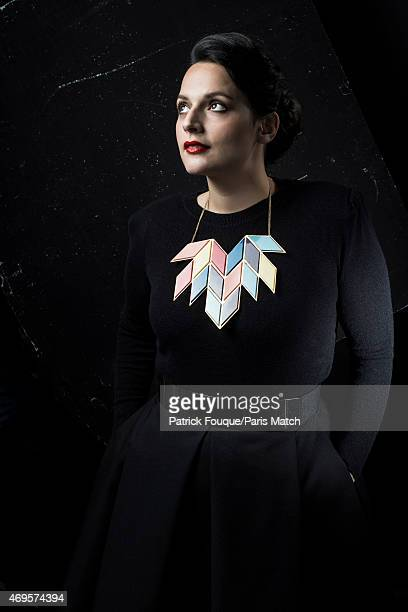 Singer Anna Chedid aka Nach is photographed for Paris Match on March 30 2015 in Paris France