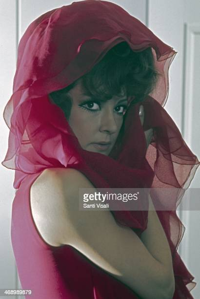 Singer Anna Moffo posing for a portrait on April 10 1970 in New York New York