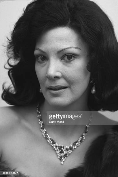 Singer Anna Moffo posing for a portrait on February 3 1976 in New York New York