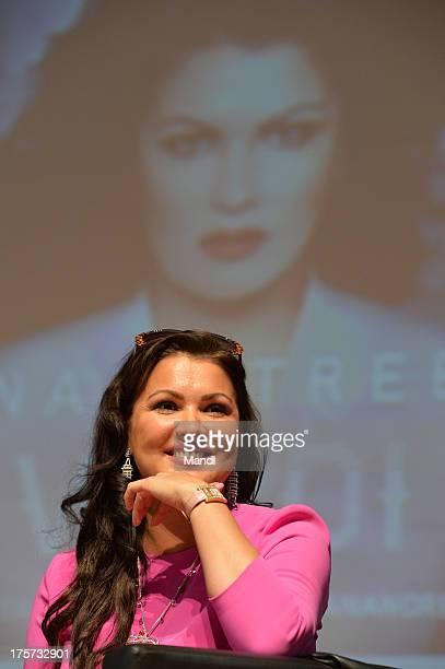 Singer Anna Netrebko launches her new album 'Verdi' at Mozarteum on August 7 2013 in Salzburg Austria