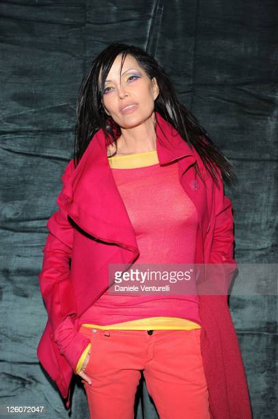 Singer Anna Oxa attends a photocall during the second day of the 61th San Remo Song Festiva on February 16 2011 in San Remo Italy