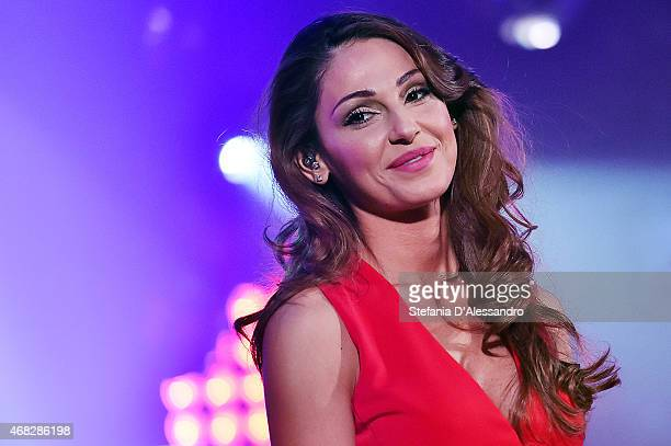 Singer Anna Tatangelo attends RadioItaliaLive on April 1 2015 in Milan Italy