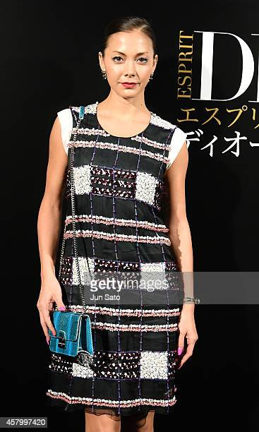 Singer Anna Tsuchiya arrives at the 'Esprit Dior' Opening Reception on October 28 2014 in Tokyo Japan