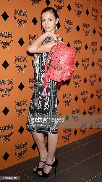 Singer Anna Tsuchiya attends MCM Heritage Exhibition Photocall at AUDI Forum on March 18 2014 in Tokyo Japan