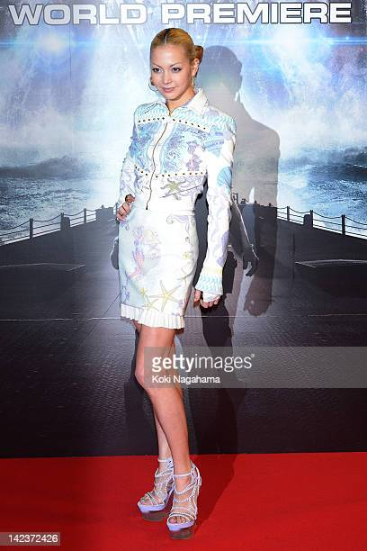 Singer Anna Tsuchiya attends the 'Battleship' Japan Premiere at International Yoyogi first gymnasium on April 3 2012 in Tokyo Japan